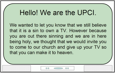 United Pentecostal Church and the TV Issue | Apostolic